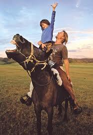 horse having fun